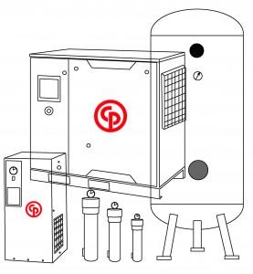CP空壓機 -線條圖